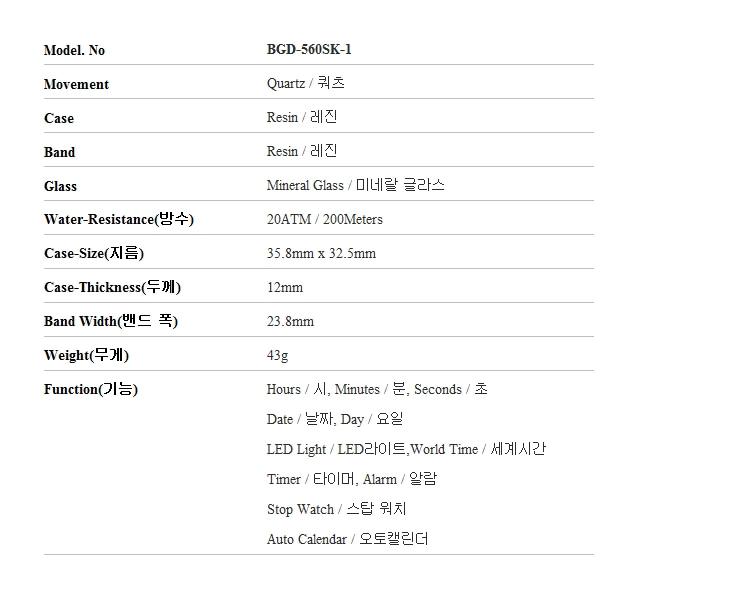 지샥(G-SHOCK) 지샥 G-SHOCK BGD-560SK-1 BABY-G 베이비지 스케이트 컬쳐 테마 스탠다드 디지털 여성 레진시계