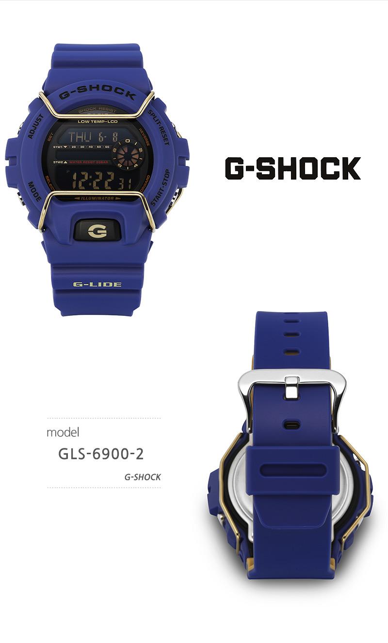 지샥 G-SHOCK GLS-6900-2 G-LIDE 지 라이드 남성 우레탄시계