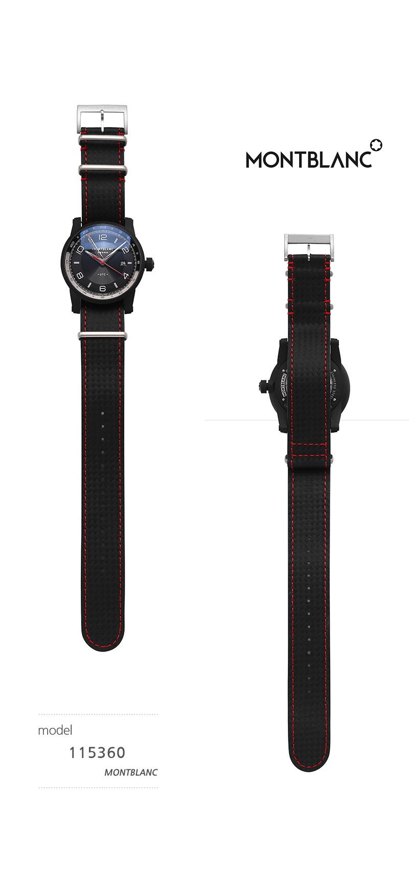 몽블랑(MONTBLANC) 115360 타임워커 오토매틱 42mm 남성 가죽시계